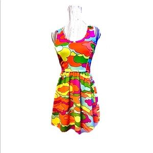 Chic abstract neon pattern Nanette Lepore dress